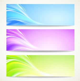 Banners abstratos definidos