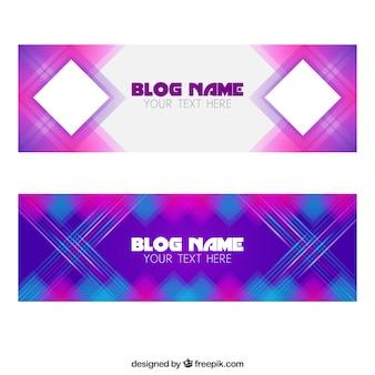 Banners blog geométricas