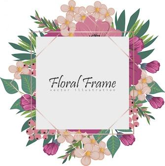 Banners botânicos vintage de vetor com flor