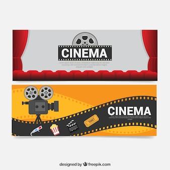 Banners câmera e elementos de filme