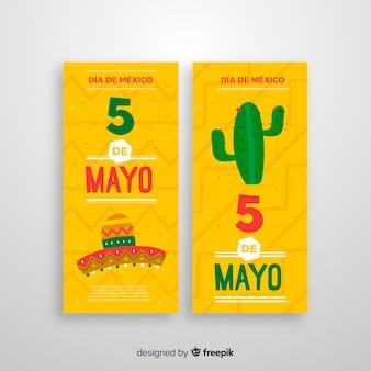 Banners cinco de mayo