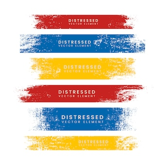 Banners coloridos afligidos