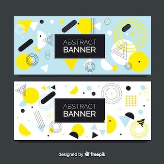 Banners coloridos com desenho geométrico