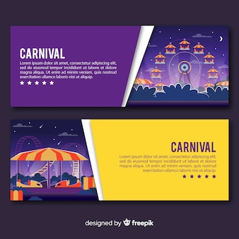 Banners coloridos de carnaval