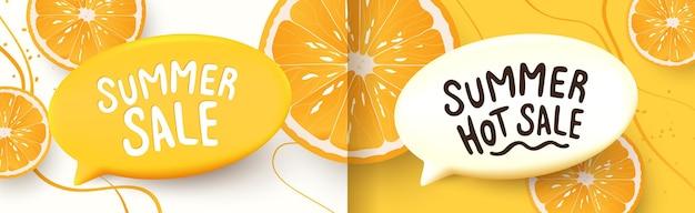 Banners coloridos de layout de fundo de venda de verão projetam cabeçalho de cartaz horizontal para o site