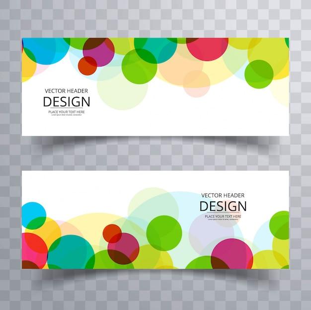 Banners coloridos modernos