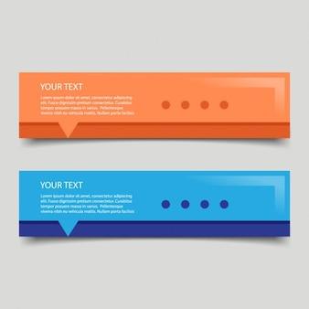 Banners coloridos para web