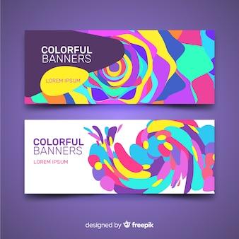 Banners coloridos