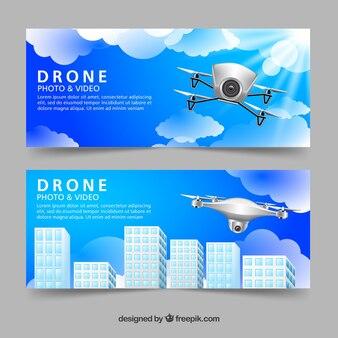 Banners com drones