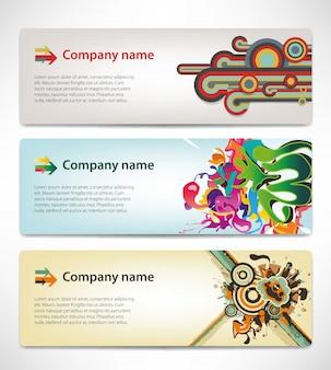 Banners com estilo corporativo