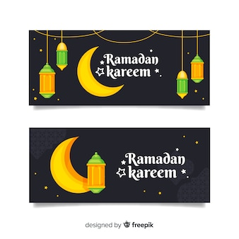 Banners criativos do ramadã