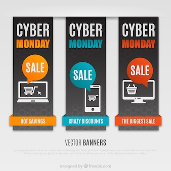 Banners cyber monday embalar