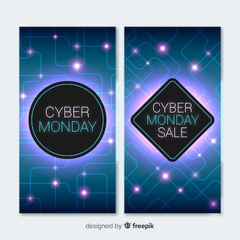 Banners cyber segunda-feira