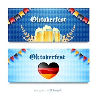 Banners da oktoberfest