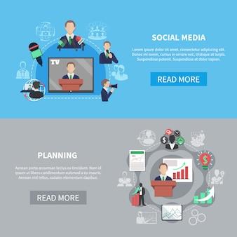 Banners da plataforma de mídia social