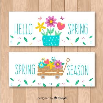 Banners da temporada de primavera