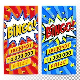 Banners da web de loteria de bingo