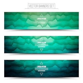 Banners da web de tecnologia abstrata de vetor
