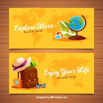 Banners de acessórios de viagem