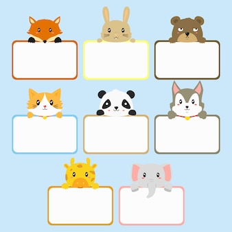 Banners de animais fofos