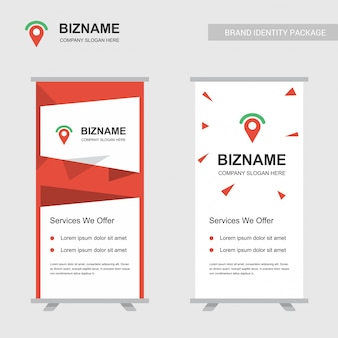 Banners de anúncio de negócios design vector