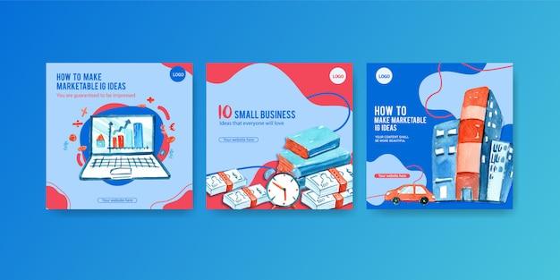 Banners de anúncios de negócios