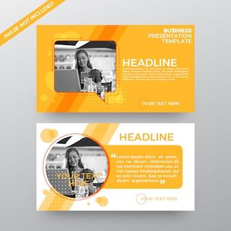 Banners de apresentação de marketing de negócios abstratos