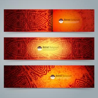 Banners de arte africana tradicional