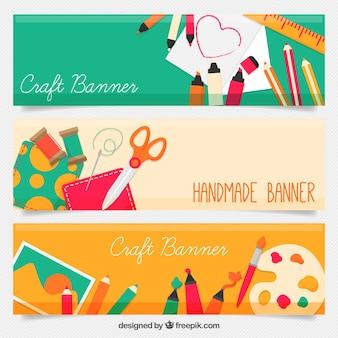 Banners de artesanato bonitas