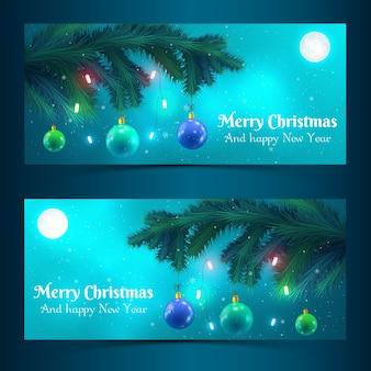 Banners de árvore de natal