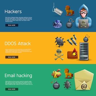 Banners de atividade de hackers