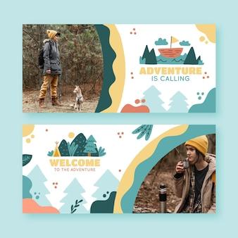 Banners de aventura com foto