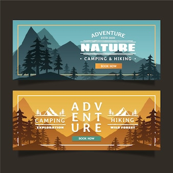 Banners de aventura em gradiente