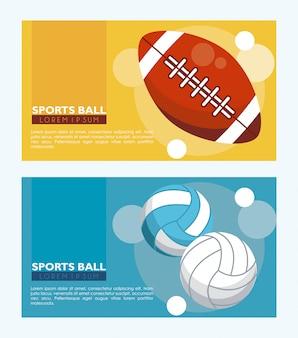 Banners de bola de esportes