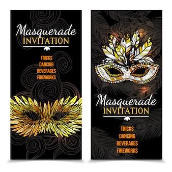 Banners de carnaval de máscaras