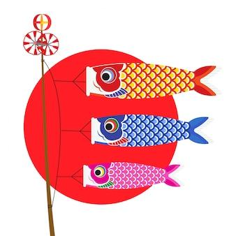 Banners de carpa japonesa