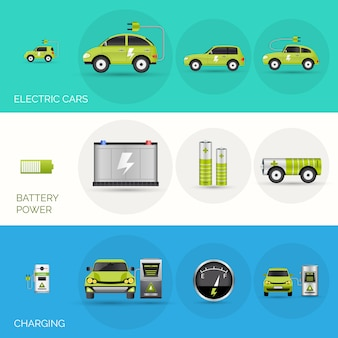 Banners de carro elétrico