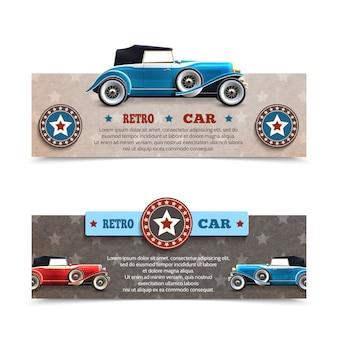 Banners de carros retrô