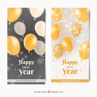 Banners de celebração de ano novo