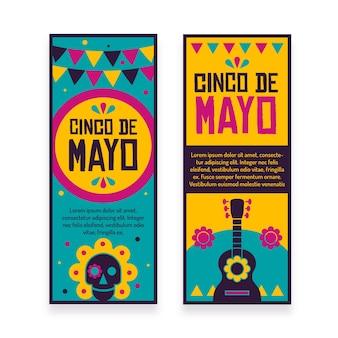 Banners de cinco de maio