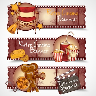 Banners de cinema retro