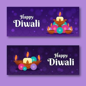 Banners de conceito de diwali