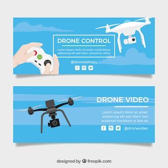 Banners de controle de drone