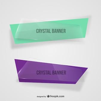 Banners de cristal assimétricas