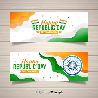 Banners de dia da república da índia
