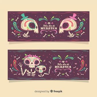 Banners de día de muertos