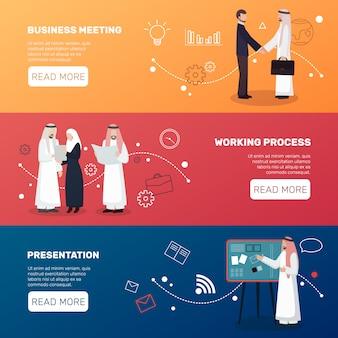 Banners de empresários islâmicos