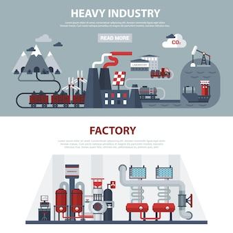 Banners de energia e indústria