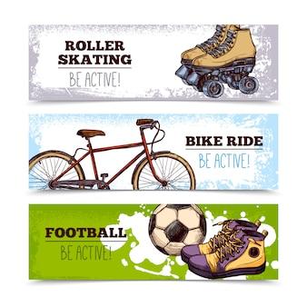 Banners de esporte de verão