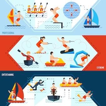 Banners de esportes aquáticos